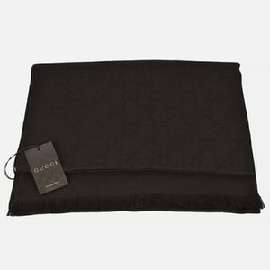 Gucci Dark Brown Signature Scarf Shawl